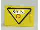 Part No: 4533pb002L  Name: Container, Cupboard 2 x 3 x 2 Door with Black 'R.E.S.' and Red 'Q' on Yellow Triangle with Black Border Pattern, Handle Left (Sticker) - Set 6462