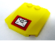 Part No: 45677pb012  Name: Wedge 4 x 4 x 2/3 Triple Curved with Mail Envelope Pattern (Sticker) - Set 7731
