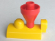 Part No: 4570c01  Name: Duplo, Train Steam Engine Funnel Top, Red Top