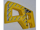 Part No: 45786pb02  Name: Technic, Panel RC Car Flexible Bumper Left with Gray Stripes on Yellow and Black Background Pattern (Stickers) - Set 8369-1