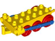 Part No: 4580c07  Name: Duplo, Train Steam Engine Chassis with Blue Drive Rod