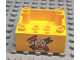 Part No: 47423pb01  Name: Duplo Container Box 4 x 4 with Studs on Corners with Fire Department Pattern
