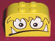 Part No: 4744pb10  Name: Brick, Modified 2 x 4 x 2 Double Curved Top with Monster Face Scared w/ Teeth Pattern