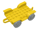Part No: 4796c01  Name: Fabuland Car Chassis 8 x 6 with Hitch