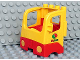 Part No: 48125c04pb01  Name: Duplo Truck Semi-Tractor Cab with Red Base and Octan Logo Pattern on Both Sides