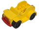 Part No: 4853c02  Name: Duplo Car with 2 x 4 Studs and Running Boards, Red Bumper, Black Wheels