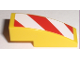 Part No: 50950pb009R  Name: Slope, Curved 3 x 1 with Red and White Danger Stripes Pattern Right (Sticker)