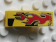 Part No: 50950pb027R  Name: Slope, Curved 3 x 1 with Red Flames on Black and Yellow Pattern Model Right (Sticker) - Set 8644
