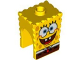 Part No: 54872pb01  Name: Minifigure, Head Modified SpongeBob SquarePants with Open Smile Pattern