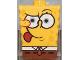 Part No: 54872pb03  Name: Minifigure, Head Modified SpongeBob SquarePants with Tongue Out Pattern
