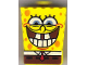 Part No: 54872pb06  Name: Minifigure, Head Modified SpongeBob SquarePants with Bottom Teeth Pattern