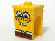 Part No: 54872pb07  Name: Minifigure, Head Modified SpongeBob SquarePants with Half-Open Eyes Pattern