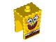 Part No: 54872pb08  Name: Minifigure, Head Modified SpongeBob SquarePants with Open Smile Large Pattern