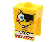 Part No: 54872pb11  Name: Minifigure, Head Modified SpongeBob SquarePants with Eyepatch Pattern