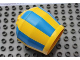 Part No: 58629pb01  Name: Duplo Cement Mixer Bucket with Blue Stripes Pattern