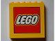 Part No: 59349pb106  Name: Panel 1 x 6 x 5 with Lego Logo with Yellow Border Pattern (Sticker) - Set 60097