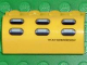 Part No: 6081pb004  Name: Slope, Curved 2 x 4 x 1 1/3 with Four Recessed Studs with 'WATERPROOF' with 6 Holes Pattern (Sticker) - Set 7774