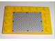 Part No: 6180pb025  Name: Tile, Modified 4 x 6 with Studs on Edges with Black Rivets on Silver Tread Plate Pattern (Sticker)