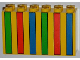 Part No: 6213px2  Name: Brick 2 x 6 x 3 with Green, Red and Blue Stripes Pattern