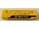Part No: 62531pb011L  Name: Technic, Panel Curved 11 x 3 with Hatches and LEGO TECHNIC Logo Pattern Model Left Side (Sticker) - Set 42006