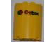 Part No: 6259pb017  Name: Cylinder Half 2 x 4 x 4 with Octan Logo Pattern (Sticker) - Set 3368