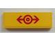 Part No: 63864pb020  Name: Tile 1 x 3 with Train Logo Red Pattern (Sticker) - Set 60026