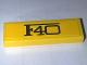 Part No: 63864pb068  Name: Tile 1 x 3 with Black 'F40' Pattern (Sticker) - Set 10248
