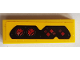 Part No: 63864pb083  Name: Tile 1 x 3 with Red Gauges and Buttons Pattern (Sticker) - Set 76086