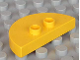 Part No: 6412  Name: Duplo Tile, Modified 2 x 4 x 1/2 (Thick) Half Circle with 2 Studs