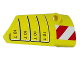 Part No: 64391pb034  Name: Technic, Panel Fairing # 4 Small Smooth Long, Side B with '10 T' and Red and White Danger Stripes Pattern (Sticker) - Set 42009
