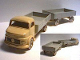 Part No: 654pb01  Name: HO Scale, Mercedes Open Bed Truck with Trailer, Gray Flatbed