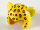 Part No: 65590pb01  Name: Minifigure, Headgear Head Cover, Costume Mask Cat with Dark Orange Leopard Spots Pattern