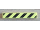 Part No: 6636pb059  Name: Tile 1 x 6 with Black and Yellow Danger Stripes Pattern (Sticker) - Set 8424