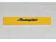 Part No: 6636pb146  Name: Tile 1 x 6 with Silver 'Lamborghini' on Yellow Background Pattern (Sticker) - Set 8169