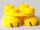 Part No: 66858pb01  Name: Legs with Plate Round 2 x 2 and Axle Hole with Black Lines Pattern