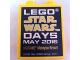Part No: 76371pb025  Name: Duplo, Brick 1 x 2 x 2 with Bottom Tube with Lego Star Wars Days May 2016 Legoland Malaysia Resort Pattern