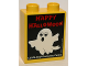 Part No: 76371pb041  Name: Duplo, Brick 1 x 2 x 2 with Bottom Tube with Legoland Discovery Centre Happy Halloween 2016 Pattern