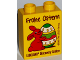 Part No: 76371pb043  Name: Duplo, Brick 1 x 2 x 2 with Bottom Tube with Legoland Discovery Centre Frohe Ostern 2016 Pattern