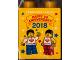 Part No: 76371pb116  Name: Duplo, Brick 1 x 2 x 2 with Bottom Tube with Legoland Japan Happy 1st Anniversary Pattern