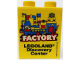 Part No: 76371pb142  Name: Duplo, Brick 1 x 2 x 2 with Bottom Tube with Legoland Discovery Center Factory 2015 Pattern