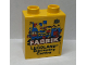 Part No: 76371pb155  Name: Duplo, Brick 1 x 2 x 2 with Bottom Tube with Legoland Discovery Centre FABRIK 2016 Pattern