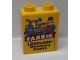 Part No: 76371pb156  Name: Duplo, Brick 1 x 2 x 2 with Bottom Tube with Legoland Discovery Centre FABRIK 2014 Pattern