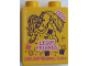 Part No: 76371pb159  Name: Duplo, Brick 1 x 2 x 2 with Bottom Tube with LEGO FRIENDS 2019 LEGOLAND Discovery Centre Pattern