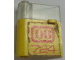 Part No: 801apb01  Name: Door 1 x 3 x 3 Left with Window and Horizontal Handle with Red 'DB' and '724' on Yellow Background Pattern (Sticker) - Set 724