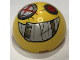 Part No: 86500pb07  Name: Cylinder Hemisphere 4 x 4 with Junkertown Eyes and Smile Pattern