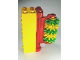 Part No: 87322c01  Name: Duplo Car Wash Brush with Red Brush Holder and Green and Yellow Bristles