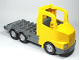 Part No: 87700c01  Name: Duplo Truck Large Cab with Dark Bluish Gray 4 x 8 Flatbed Plate