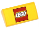 Part No: 88930pb045  Name: Slope, Curved 2 x 4 x 2/3 with Bottom Tubes with Lego Logo Pattern (Sticker) - Set 60050