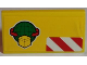 Part No: 88930pb056  Name: Slope, Curved 2 x 4 x 2/3 with Bottom Tubes with Cargo Logo and Red and White Danger Stripes Pattern (Sticker) - Set 60022