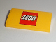 Part No: 88930pb063  Name: Slope, Curved 2 x 4 x 2/3 with Bottom Tubes with Lego Logo Pattern (Sticker) - Set 60097